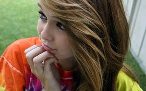 Картинка взгляд, девушка, модель, прическа, симпатичная, Acacia Clark