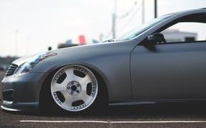 Обои infiniti, car, wheel, stance, инфинити
