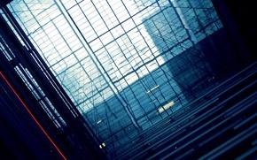 Обои стекло, свет, отражение