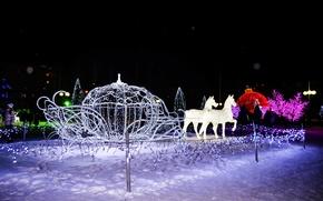 Картинка зима, город, новый год, сказка, Нижнекамск