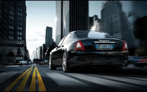 Обои дорога, Maserati, Quattroporte Sport GT S