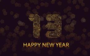 Обои happy new yaer, 2013, новый год, new year