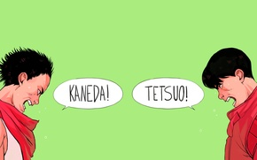 Картинка фон, спор, крик, Акира, Akira, Kaneda, Канеда, Tetsuo, Тецуо