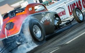 Картинка гонка, hot-rod, classic car, drag racing