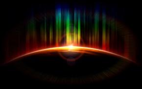 Картинка свет, земля, планета, цветной, космосsunrise