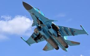 Обои самолет, бомбардировщик, Су-34