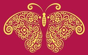 Картинка абстракция, бабочка, вектор