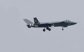 Картинка фото, прототип, самолёт, шасси, Chengdu J-20