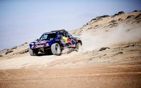 Картинка Песок, Авто, Синий, Спорт, Машина, Red Bull, 300, Rally, Dakar, Дакар, Ралли, 2014, Buggy