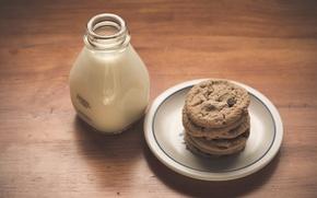 Картинка еда, milk, cookies