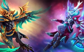 Картинка Dota 2, Vengeful Spirit, Skywrath Mage, Shendelzare, Dragonus, Blessings of Fenghuang