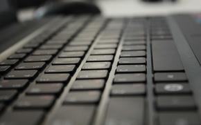 Картинка буквы, чёрная, клавиатура, белые