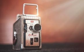 Картинка макро, фон, камера, Kodak Brownie 8mm