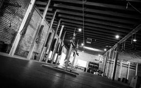 Картинка black & white, спорт, зал, черно - белое, мотивация, тренировка, тренажерный зал, gym, Training, спорт …