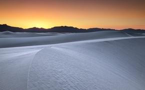 Картинка пейзаж, закат, пустыня