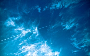Картинка небо, облака, самолет, Airbus, Беларусь, Бездеж