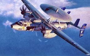 Картинка art, airplane, aviation, Northrop Grumman E-2 Hawkeye