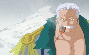 Картинка ice, game, One Piece, sky, Marine, smile, anime, short hair, snow, man, face, asian, yuki, ...