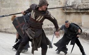 Картинка cinema, wallpaper, sword, Assassins Creed, game, hitman, cross, street, man, fight, movie, ken, Assassin's Creed, ...