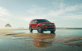 Картинка Ford, Red, Explorer, Platinum, (2016)