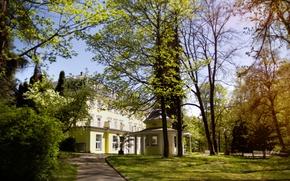 Картинка лето, парк, замок, Чехия