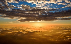 Картинка небо, облака, свет