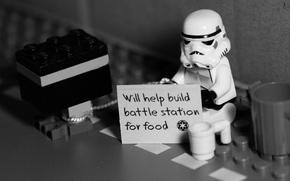 Картинка Star Wars, штурмовик, Lego, безработный