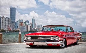 Картинка тачки, 1960, chevrolet, cars, auto wallpapers, авто обои, авто фото, impala, chevy