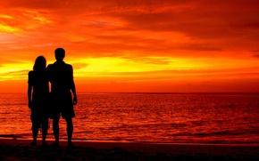 Картинка любовь, пейзаж, природа, love, Мальдивы, landscape, nature, Maldives, Индийский океан, влюбленная пара, Indian Ocean, loving …