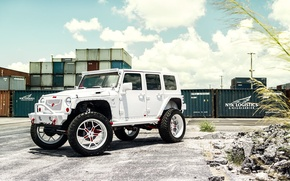 Картинка car, тюнинг, внедорожник, Miami, Jeep Wrangler, Automotive Photography, Andrew Link
