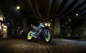 Картинка city, dark, side, Yamaha, moto, japan, night, naked, urban, 2016, MT-09