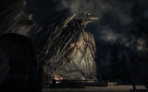 Картинка Ночь, Skyrim, The elder scrolls, Вайтран, Небесная кузница