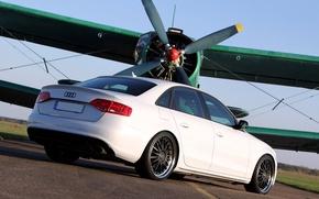 Картинка car, Audi, зад, white, 2010, tuning, plane, Avus performance