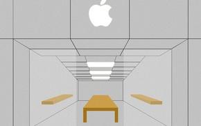 Картинка vector, apple, minimal, apple store, store