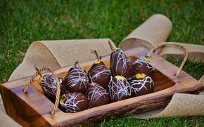 Картинка еда, шоколад, сладкое, грушы
