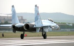 Обои реактивный, Су-35, истребитель, многоцелевой