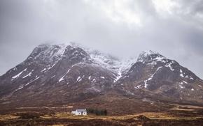 Картинка house, storm, countryside, farm, mounatins, couds