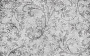 Картинка узор, текстура, черно-белое, винтаж