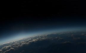 Обои Небо, звезды, облака, атмосфера