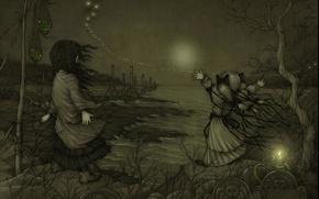 Картинка надежда, берег, могилы, свеча, даль, смог