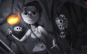 Картинка Девушка, Игры, Tomb Raider, Лара Крофт, Art, Game, 2013