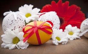 Картинка цветы, праздник, яйцо, пасха