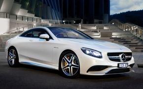 Картинка Mercedes-Benz, мерседес, AMG, Coupe, амг, S 63, AU-spec, 2015, C217