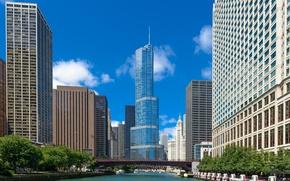 Обои Мичиган, usa, город, Иллиноис, chicago, небоскребы, Чикаго