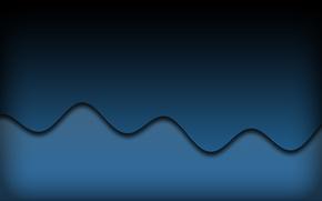 Картинка волны, синий, абстракция, узоры, линий, waves, blue, patterns, 1920x1200, lines, abstraction