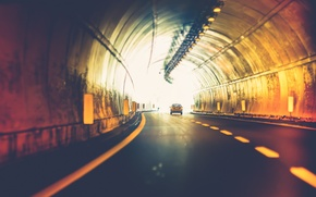 Обои car, colors, abstract, light, Sony, street, tunnel