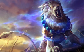 Картинка лев, art, Heroes of Newerth, moba, Gemini, Lion of Sol