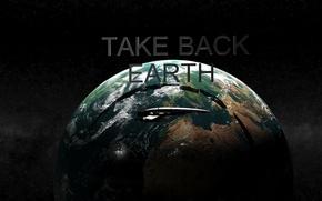 Картинка earth, Земля, render, normandy, ship, max, 3ds, take earth back, sr1, mass effect 1