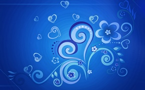 Картинка цветы, узоры, минимализм, сердечки