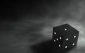 Обои черно-белая, Кубик, грани, 158